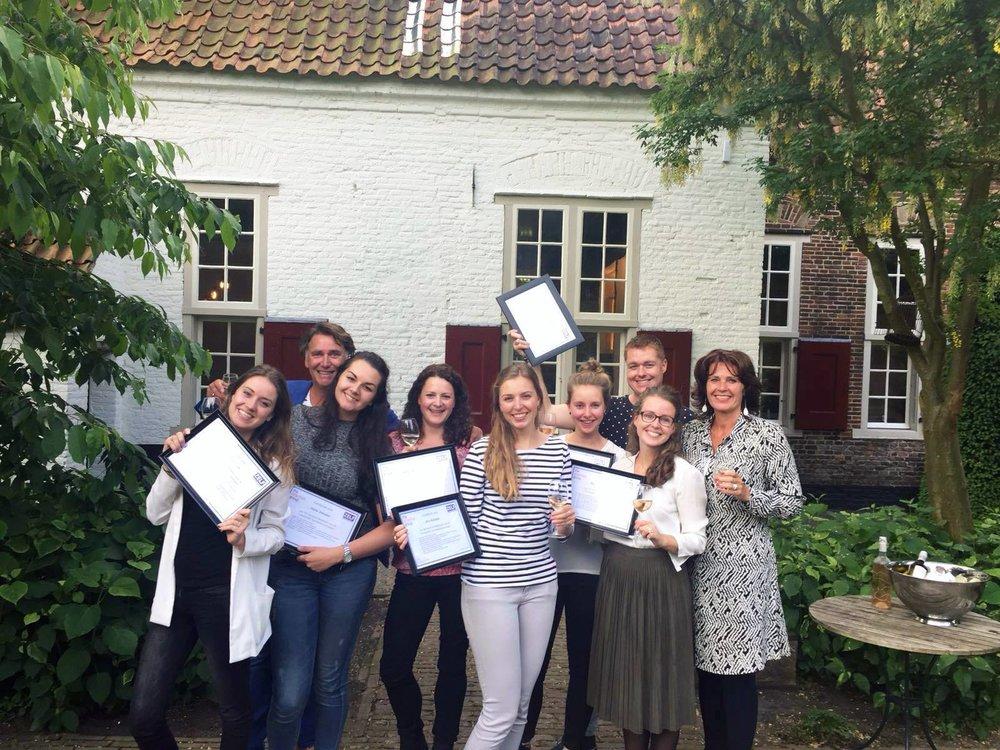 Het salesteam behaald in 2016 een mooi certificaat