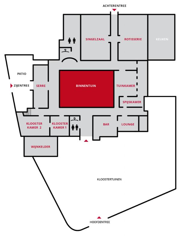 Plattegrond Mariënhof, klik voor vergroting