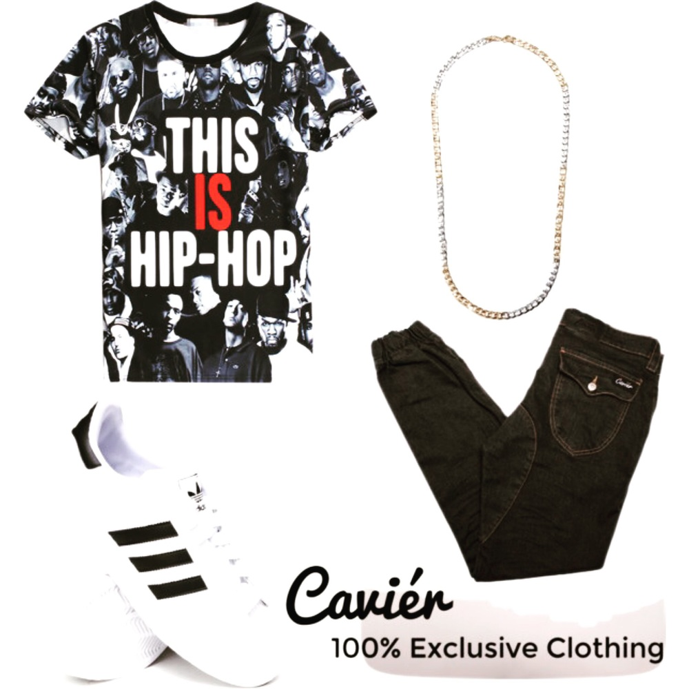 Shirt: pinkqueen.com; $15  Necklace: forever21.com; $5.90  Shoes: djrays.com; $75  Joggers: cavierclothing.com; $180  #shopcavier #cavierclothing #menswear #urbanwear #urban #men #hiphop #mensfashion #mensclothing #fashion #menstyle #style #stylist #blog #blogger #bellefemmeandco