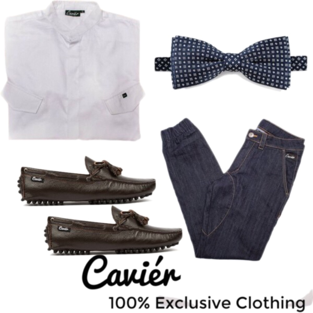 """The Cavier Gentleman""  Shirt: CAVIERCLOTHING.COM; $80  Joggers: CAVIERCLOTHING.COM; $70  Loafers: CAVIERCLOTHING.COM; $120"