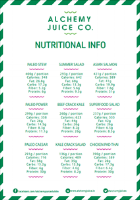Alchemy Lunchbox Nutritional Information