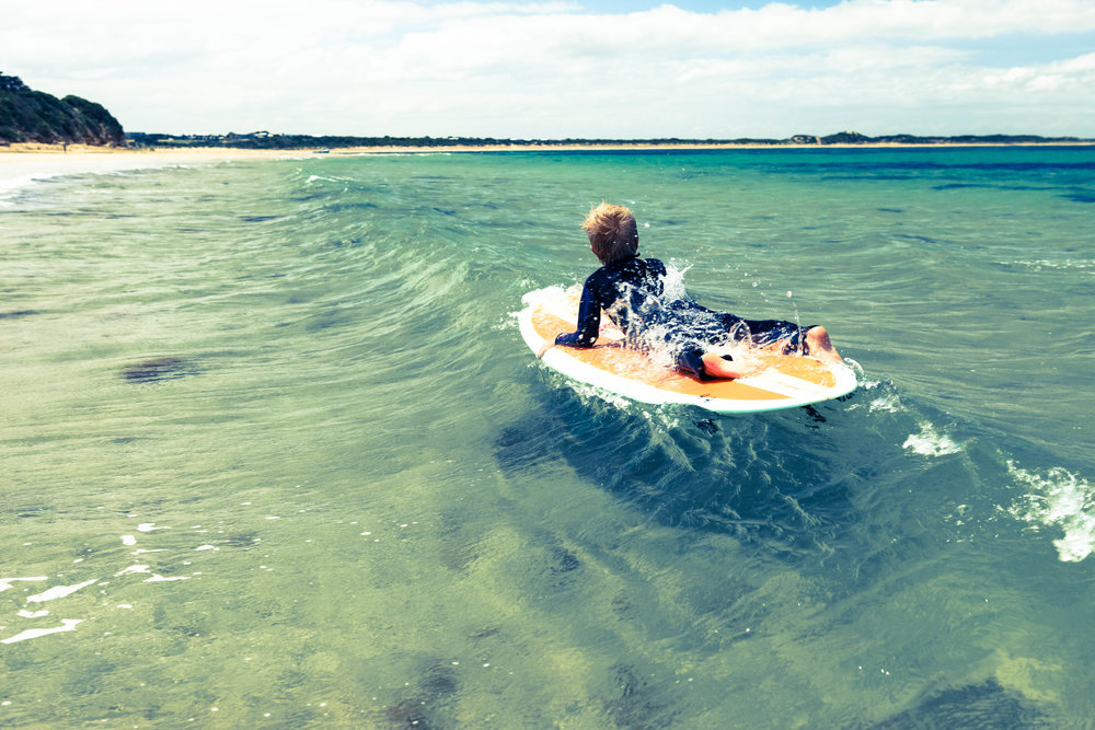 Surfing in Queensland