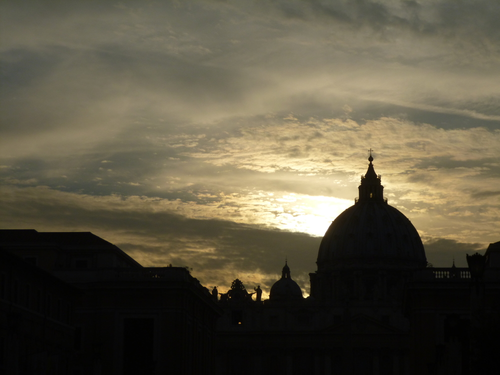 Rome - Sunset over Vatican