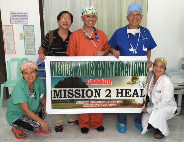 Dr. Allan Melicor and the Team - Mission 2 Heal, Philippines, 2016