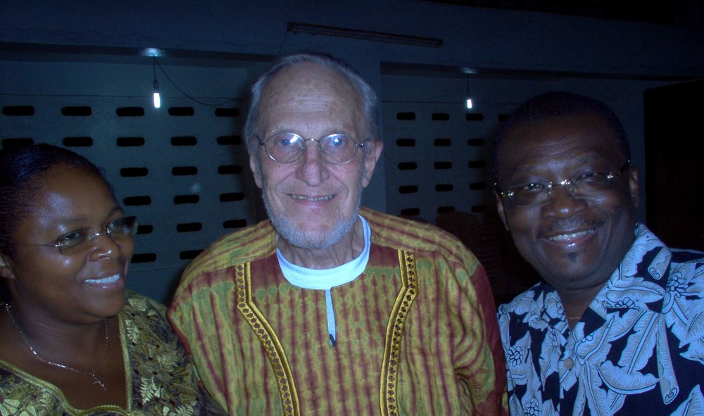 Dr Bob Schoffstall with Kofi and Vivian Ghartey