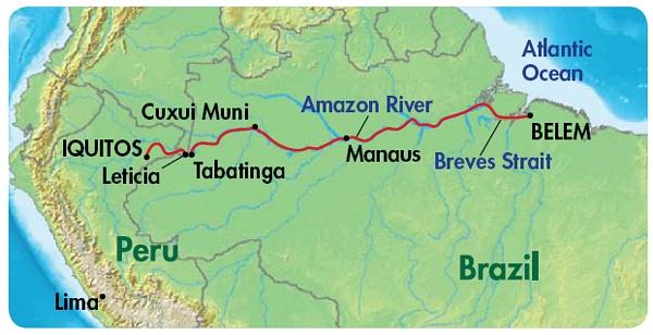 Amazon Medical Ministry International - World map showing amazon river