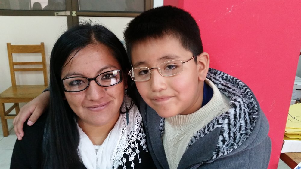 Mother and Son Receive Glasses in Bolivia
