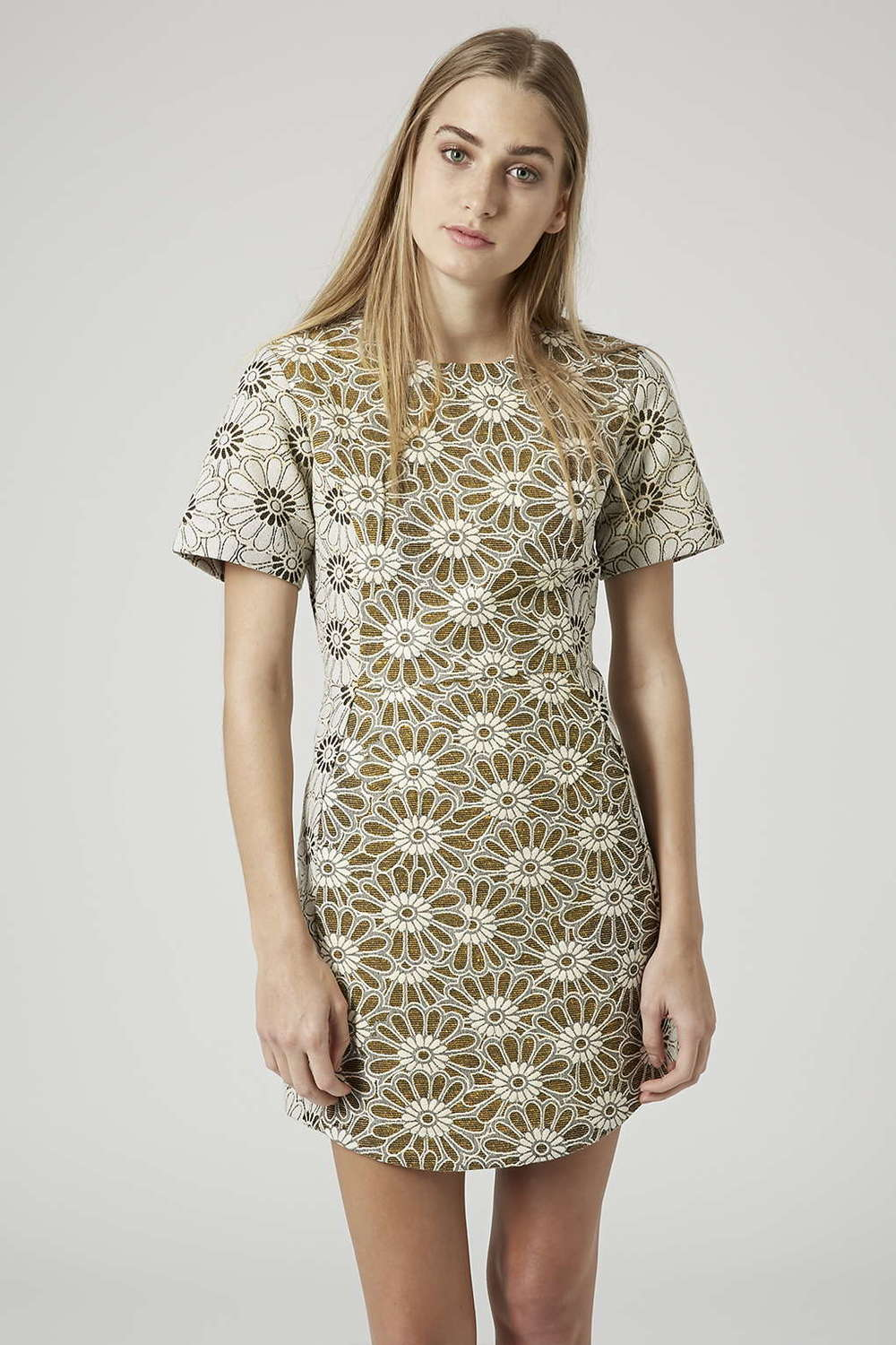 Daisy Jaquard Shift Dress: £50 Topshop