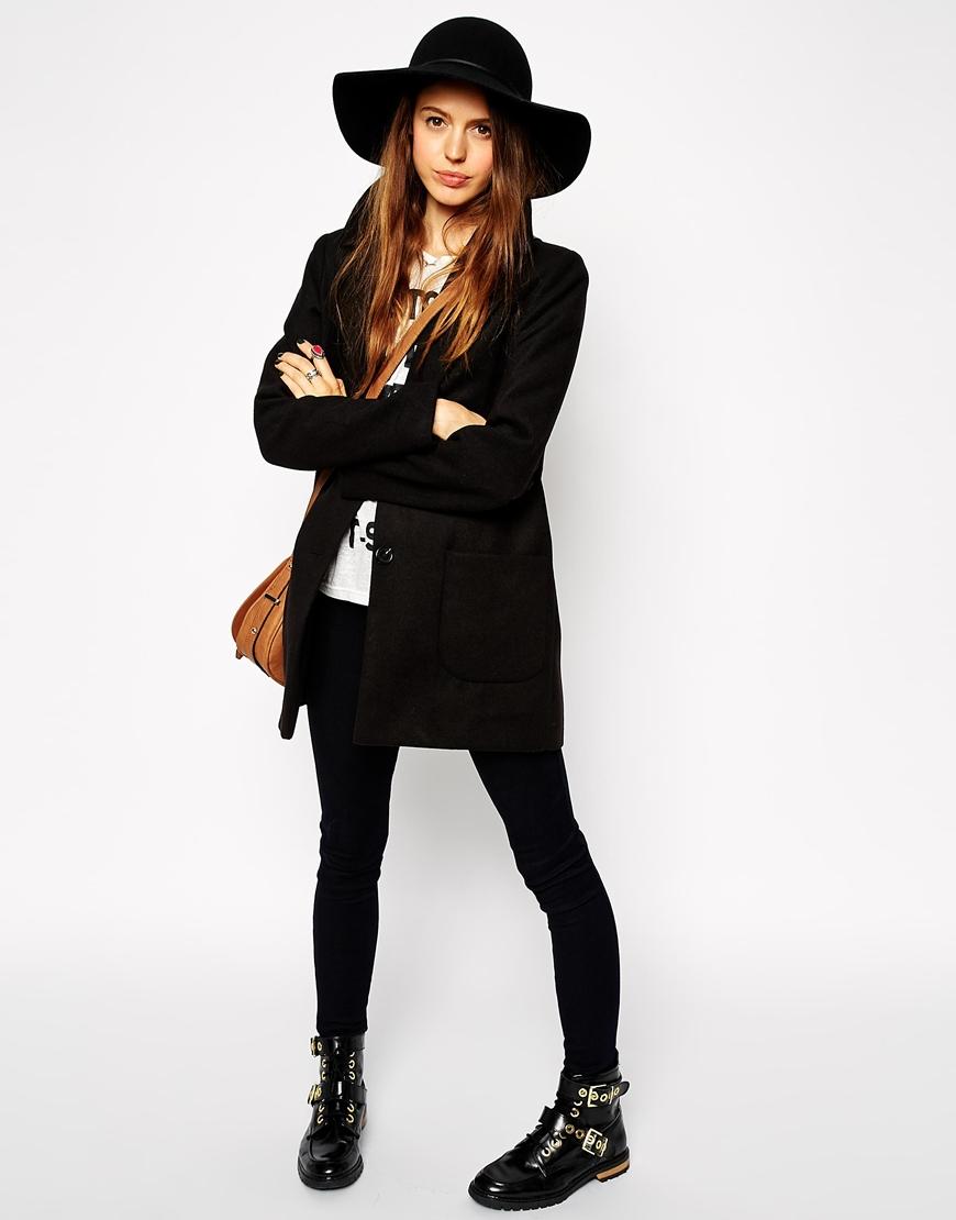 Felt Floppy Hat - £20, Skinny Jeans - £30,ASOS