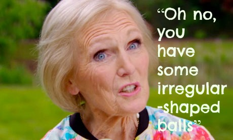 Mary Berry ... what a ledge.