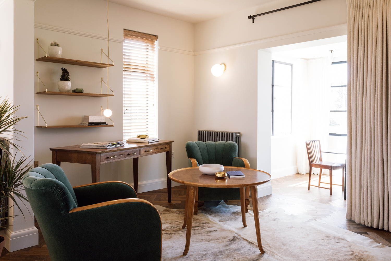 Burchdaume London Jersey Guernsey Living Room Interior Design Velvet Scallop Back Swedish