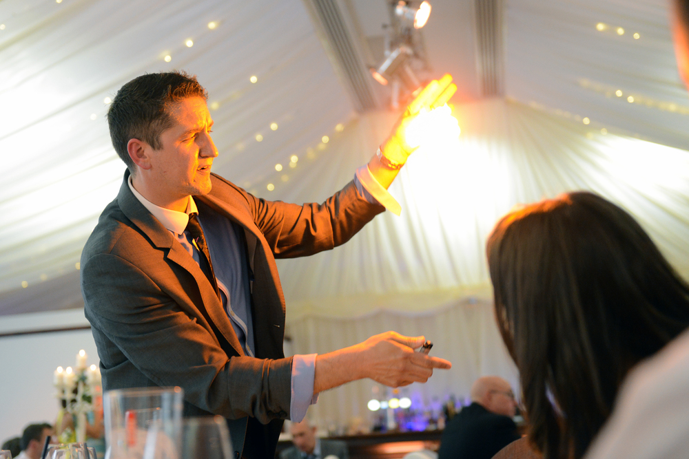 Fire magic at the Villa, Wrea Green in Preston, Lancashire
