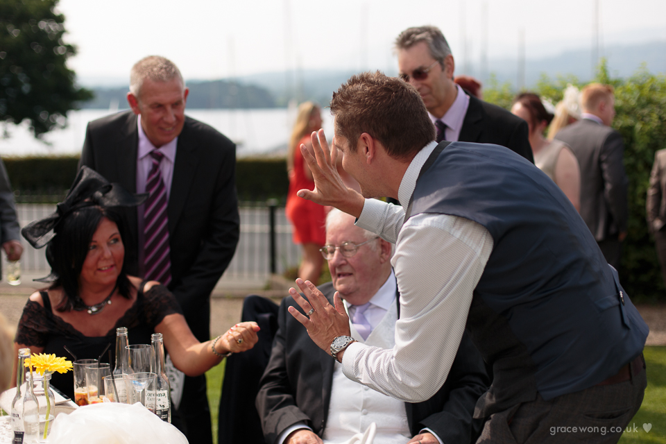 Entertaining Wedding guests at Low Wood Bay Resort, Cumbria