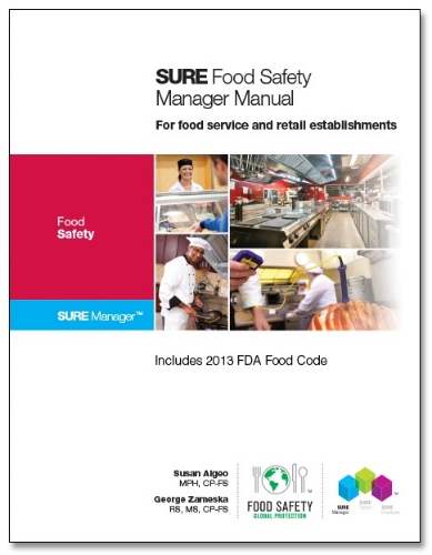 We are proud to announce that we now use the   Sure® Food Safety Manager Manual  .  This new textbook includes detailed information and practice activities in a clear and easy to understand format.