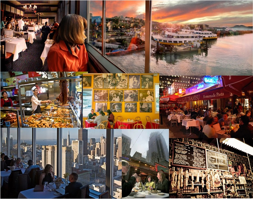 You can find any type of food and any type of restaurant in San Francisco
