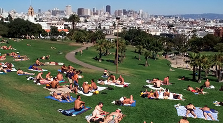 Delores Park is a launch point for sights in the Mission and Castro Districts