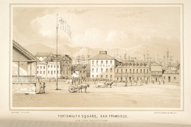 Copy of 1849 Portrait of the Eldorado Hotel & Dennison's Exchange