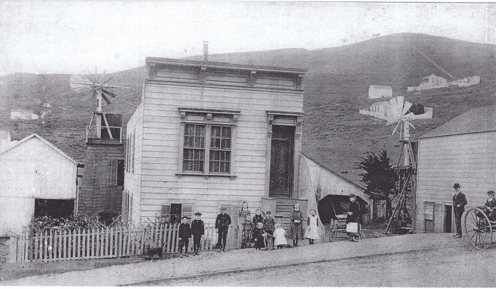 The original Mitchell's Dairy Farm at 18th & Noe streets from 1890