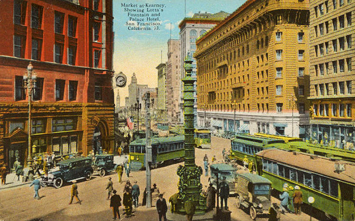 Fountain w cable car turnaround 1925.jpg