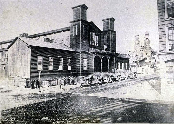 Mechanics-Pavilion-Stockton W side before park 1870.jpg