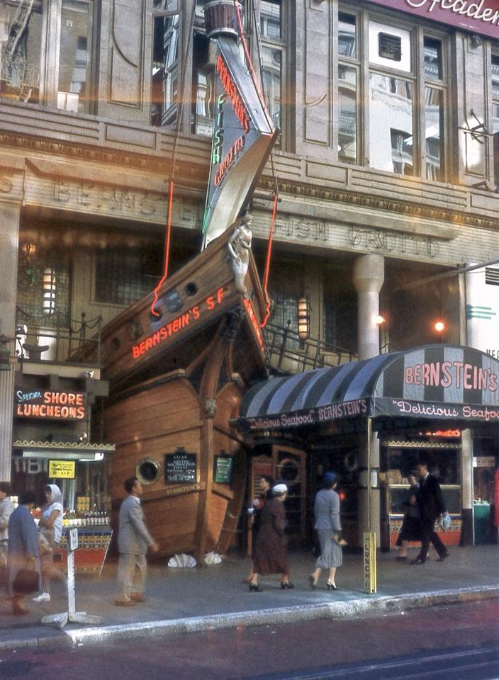 powell st Bernstein's fish grotto color1960-lily costello.jpg