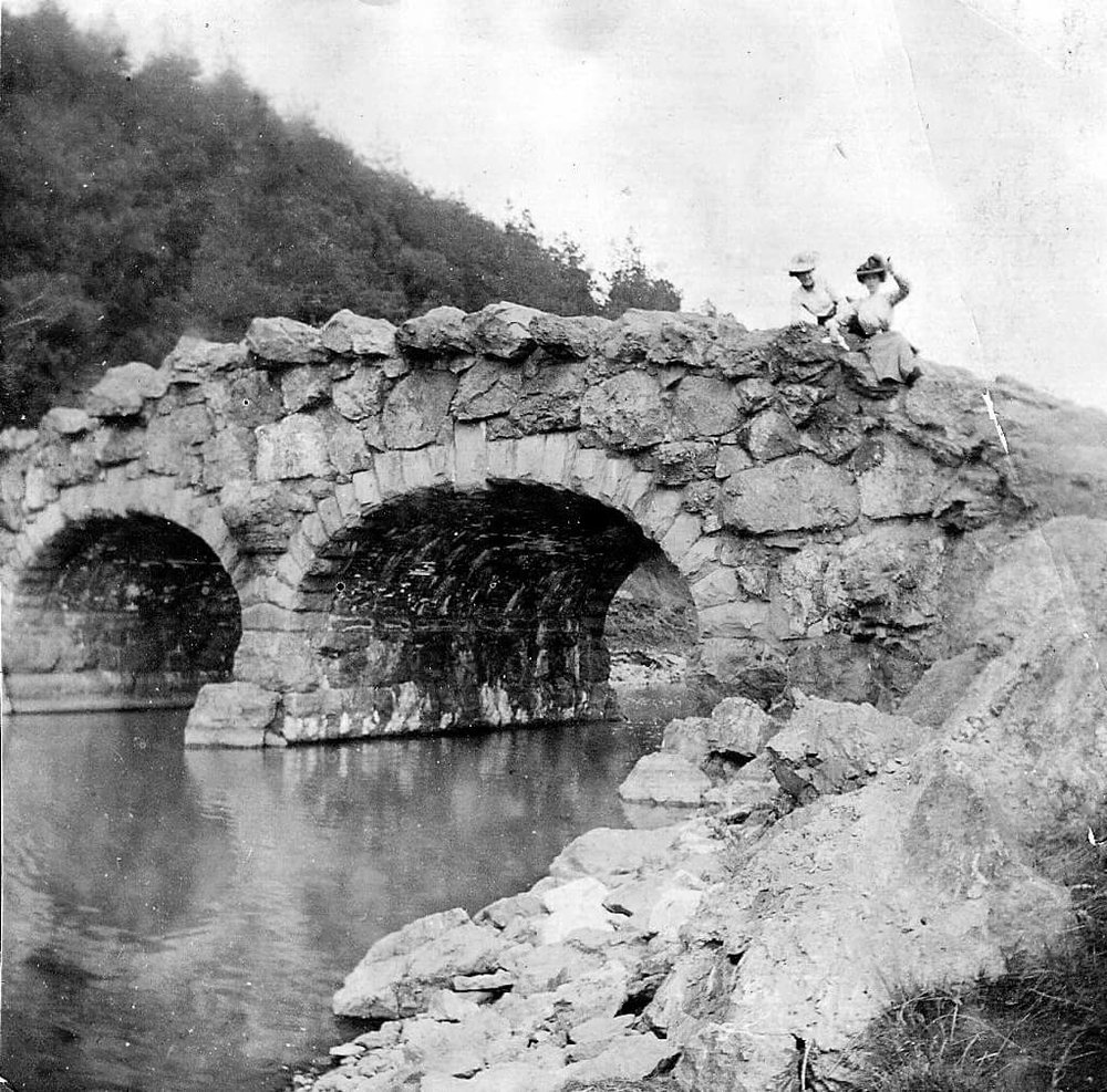 Bridge over Stowe Lake 1917