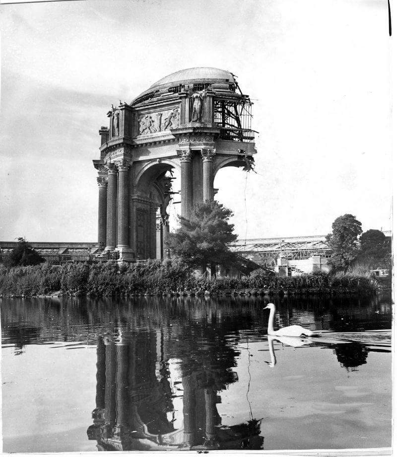 Rebuilding the Palace of Fine Arts in 1964