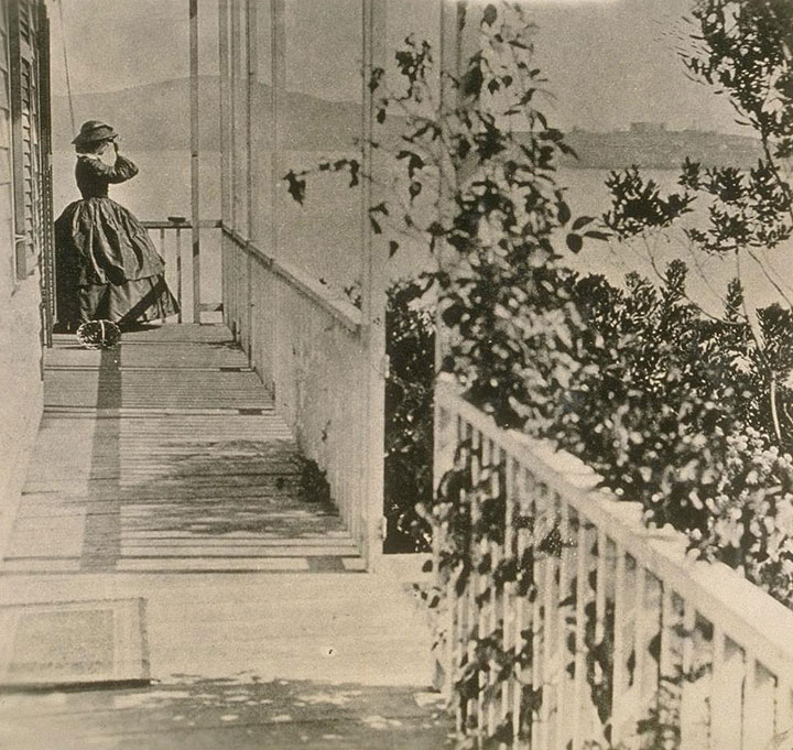 Mrs. Jessie Benton Fremont at home in Gen. Vallejo's former house in Black Point 1863