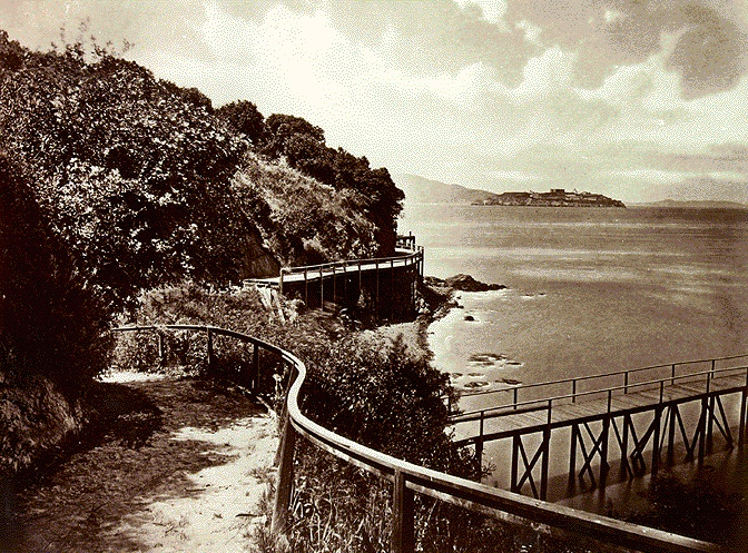 Trail around Black Point in 1870