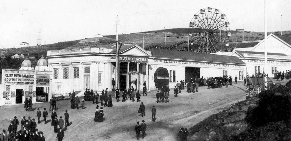 The Firth Wheel from the 1894 Mid Winter Fair at Sutro Baths until 1911