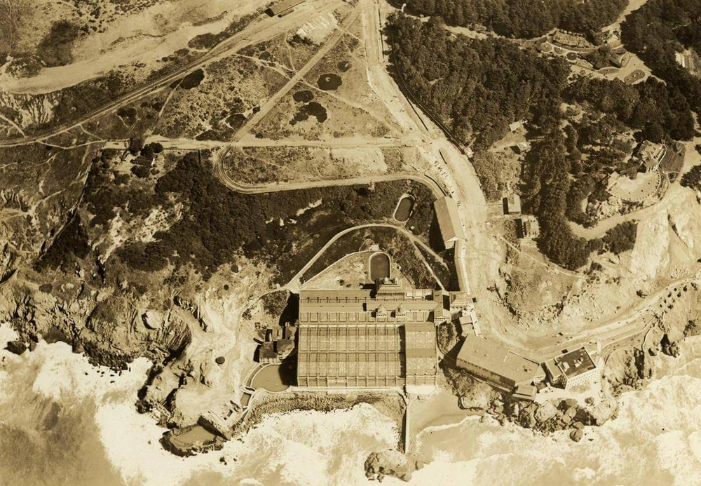 Arial view of Sutro Baths