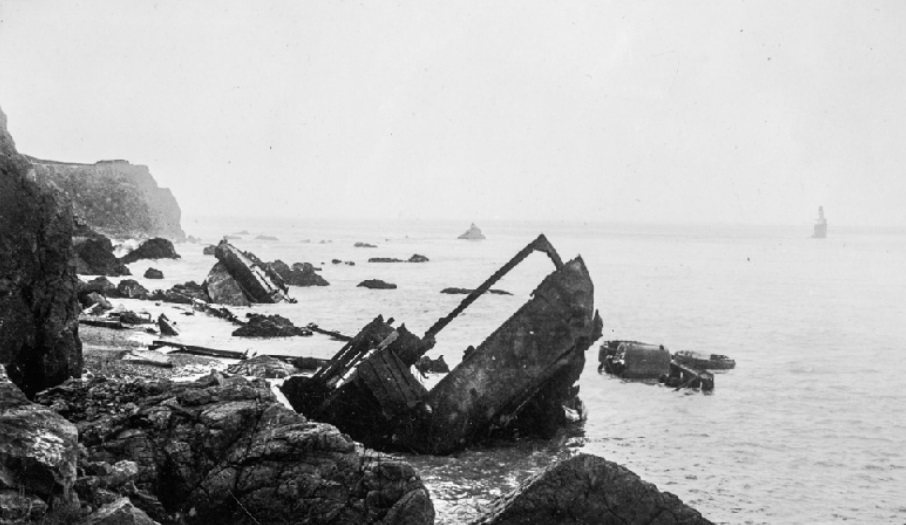 The SS Coos Bay after its breakup