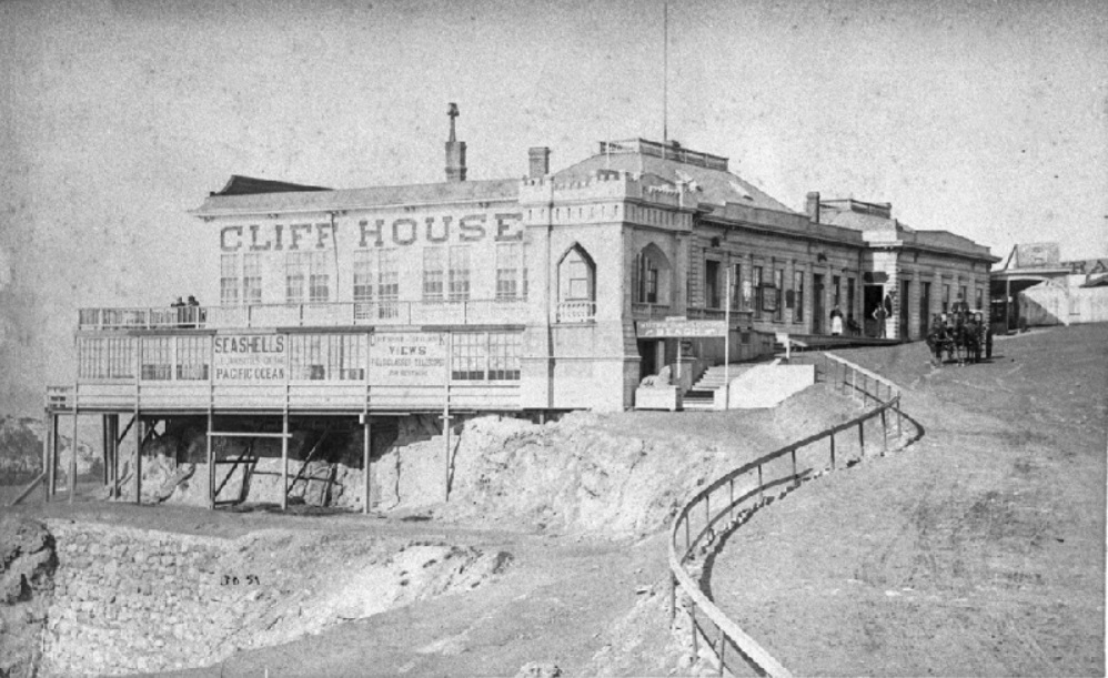 1887 Cliff House (Stables right)