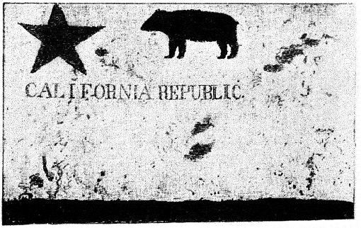 William Todd's original Bear Flag Rebellion banner