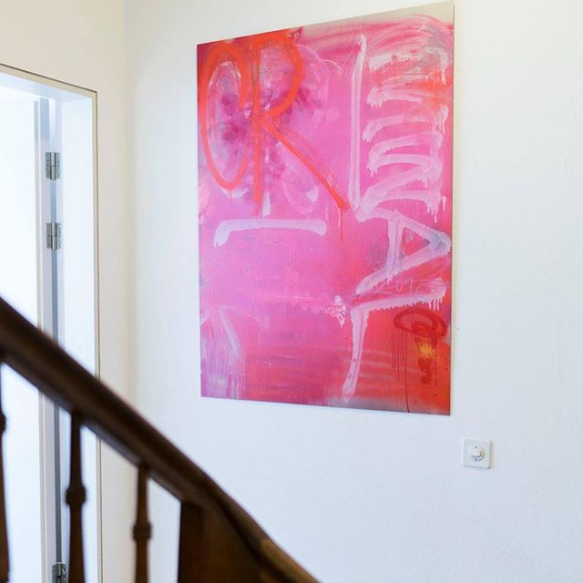 One of my paintings @teufelhofbasel Hotel in Basel. The Groupshow runs until January 2019.  Organized by @artstuebli  With paintings of: Adrian Falkner | Ata Bozaci | Stefan Winterle | Thierry Furger | Rapaël Borer/Lukas Oberer | Bruno Santinho | Christoph Göttel | Rafael FAFA Márquez | Luca Barcellona | Mr Kern | Morten Andersen | Othmar Farré | Pascal Kehl | Pro176 |  Foto: Daniel Bosshard @bossart.films