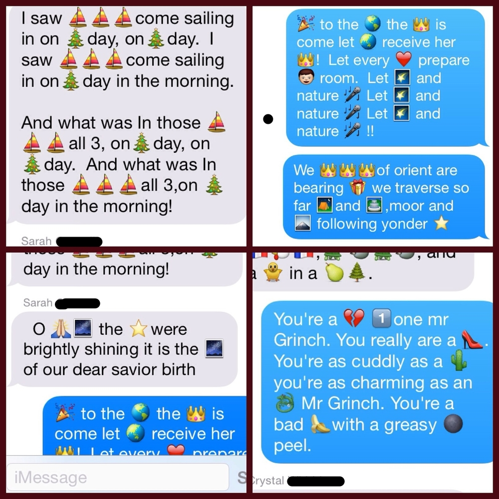 Emoji Christmas Carols one