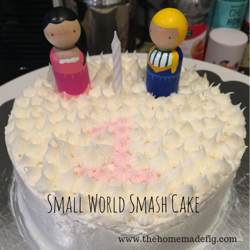 small world smash cake