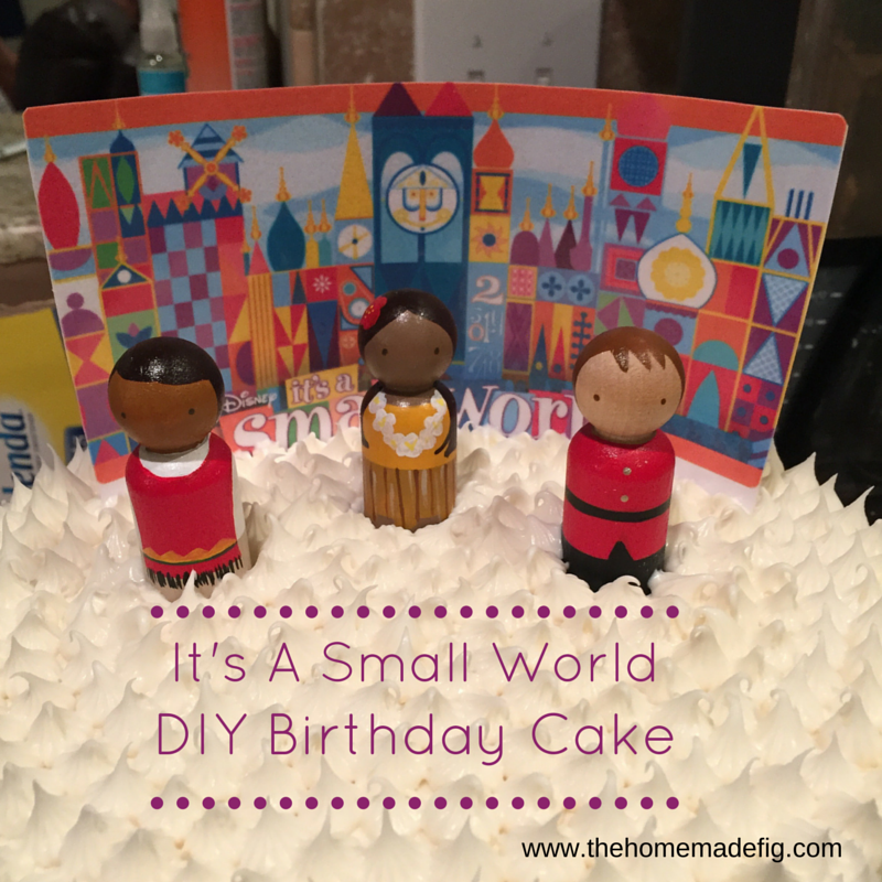 small world birthday cake diy