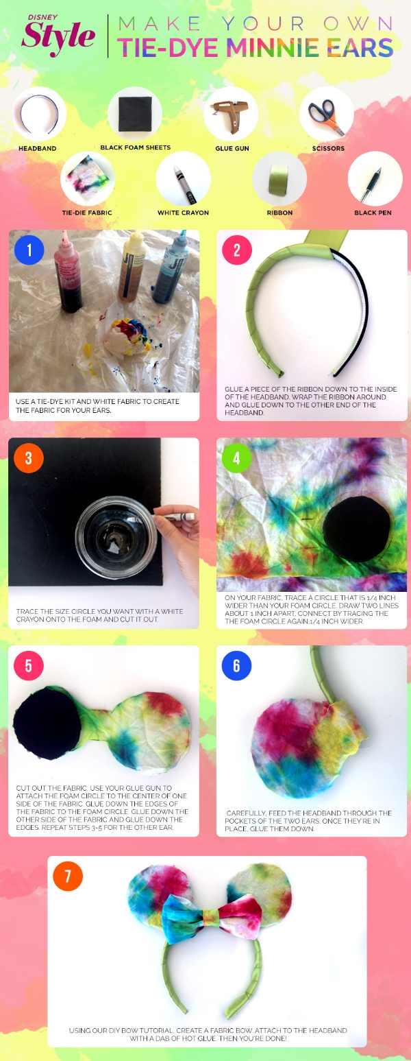 Tie Dye Ears from Disney/Style (click the photo to go directly to the tutorial)