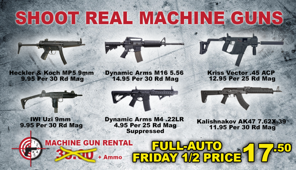 Click above image to review our selection of rental firearms.