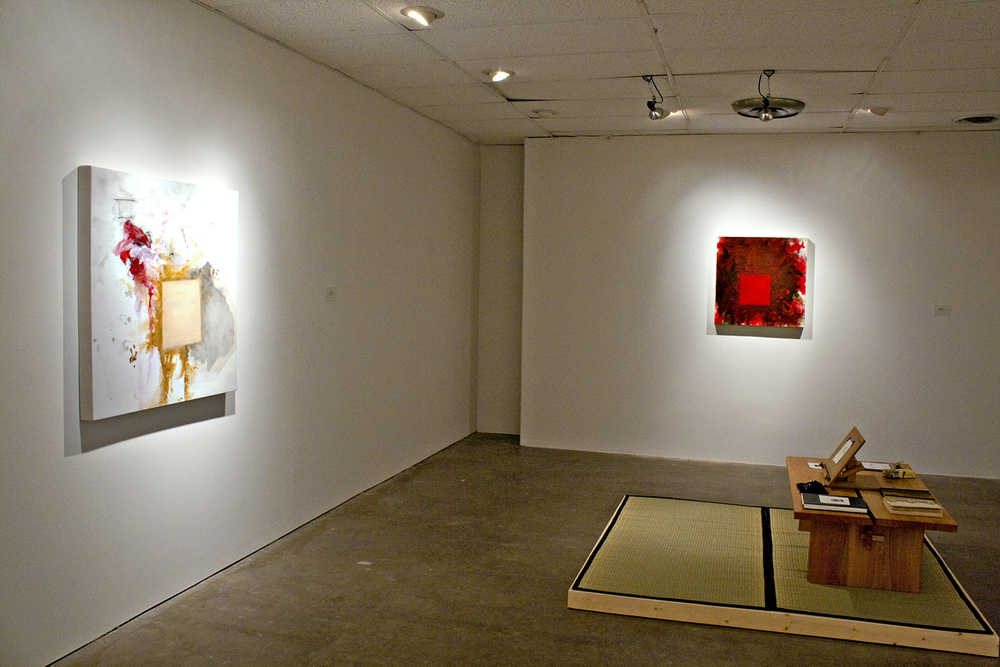 Robert Hoerlein  (installation at gallery), ICON Gallery, Fairfield, Iowa, March 2012.