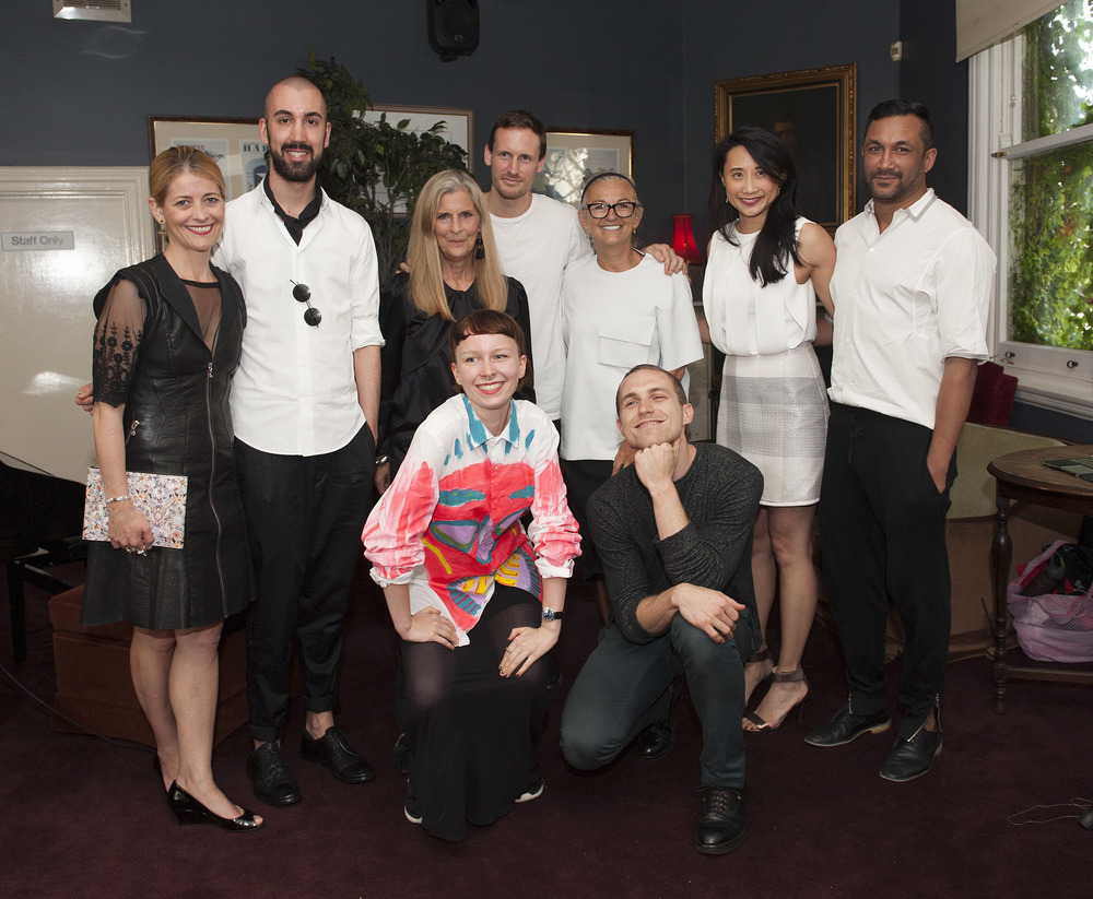 Kellie Hush (EIC of Harper's Bazaar Australia), Max Sanderson (Runner-up), Nancy Pilcher (Judge), Grace Butterworth (Winner), Dion Lee (Judge), Brana Wolf (Judge), Alexander Kelvy (Winner), Michelle Lee (Winner) and Ryan Lobo (Judge)