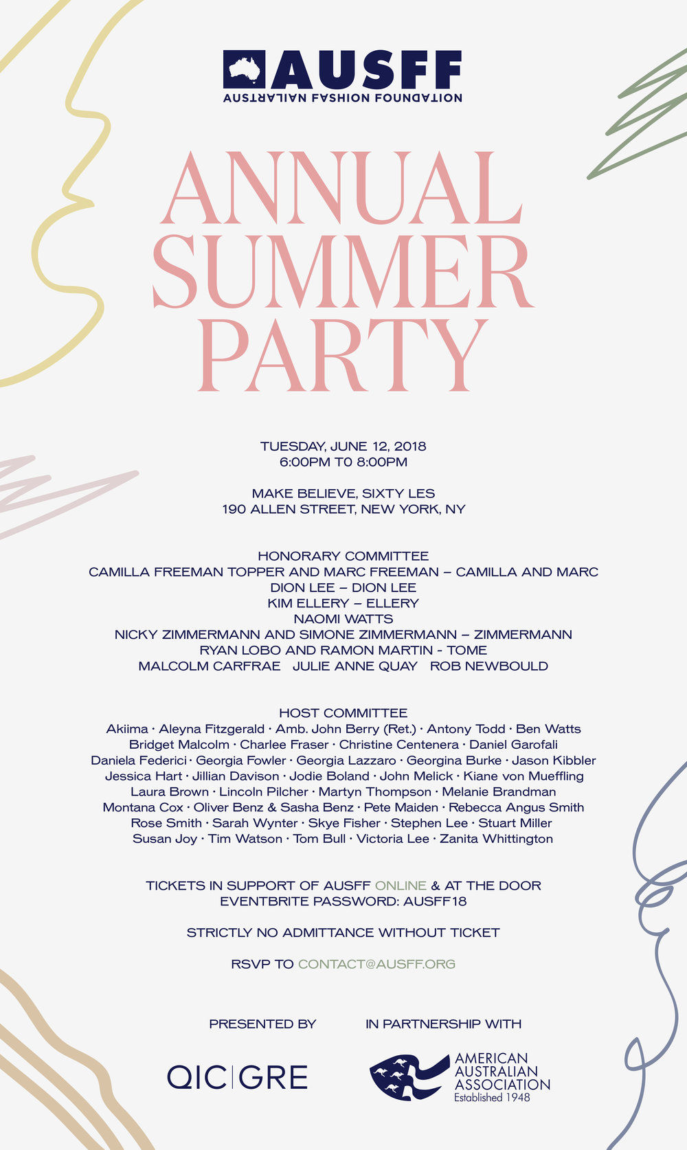 AUSFF SUMMER PARTY 2018