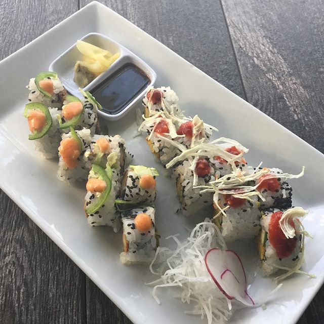 in addition to our daily specials, we have vegan sushi available wed-sun 6-9pm. come enjoy 🍣🌱