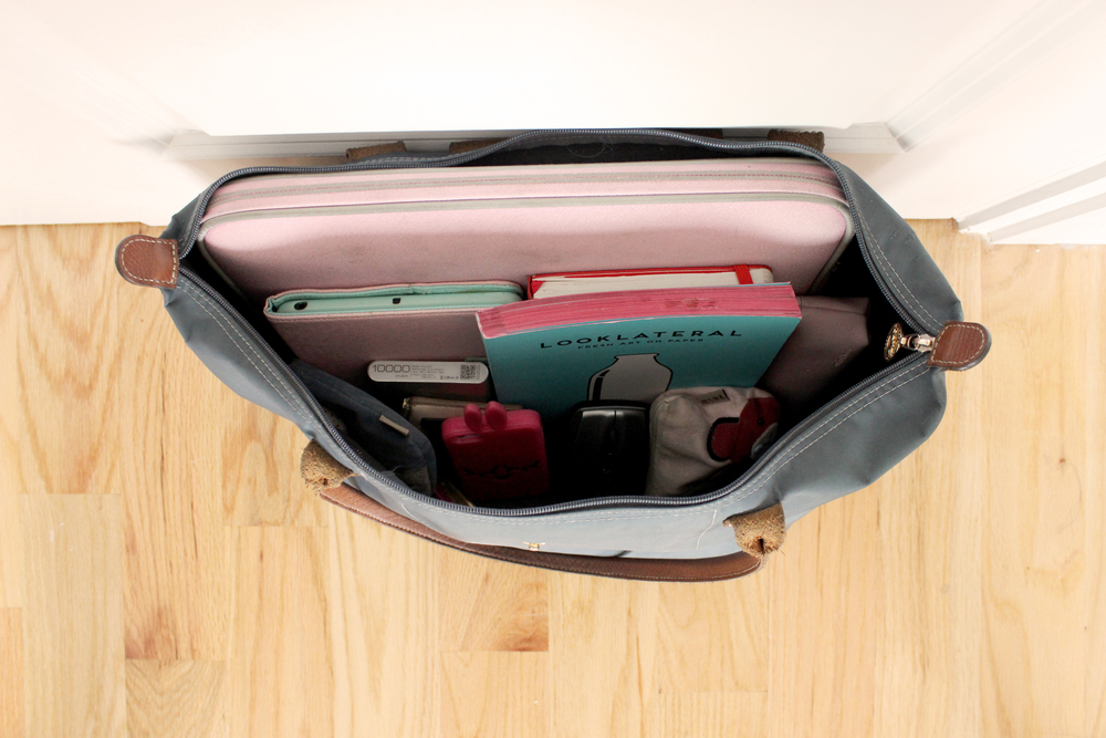Inside look into my carry-on tote (Longchamp)