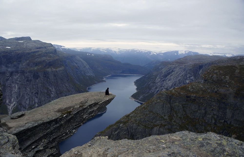 Trolltunga, Norway ( Flickr )