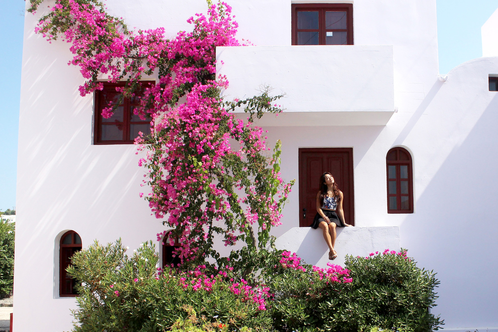 A Vedema suite covered in bougainvilleas