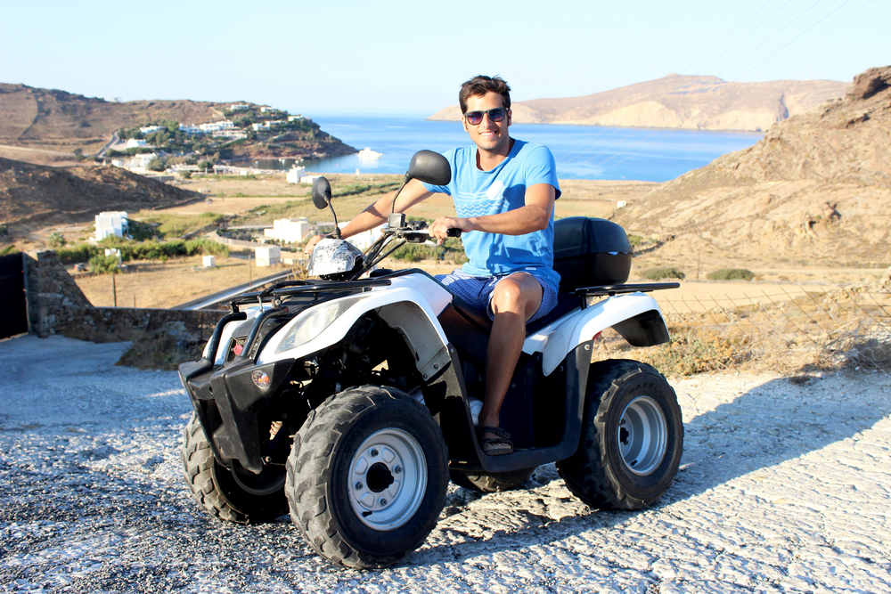 Mattia on our trusty little ATV