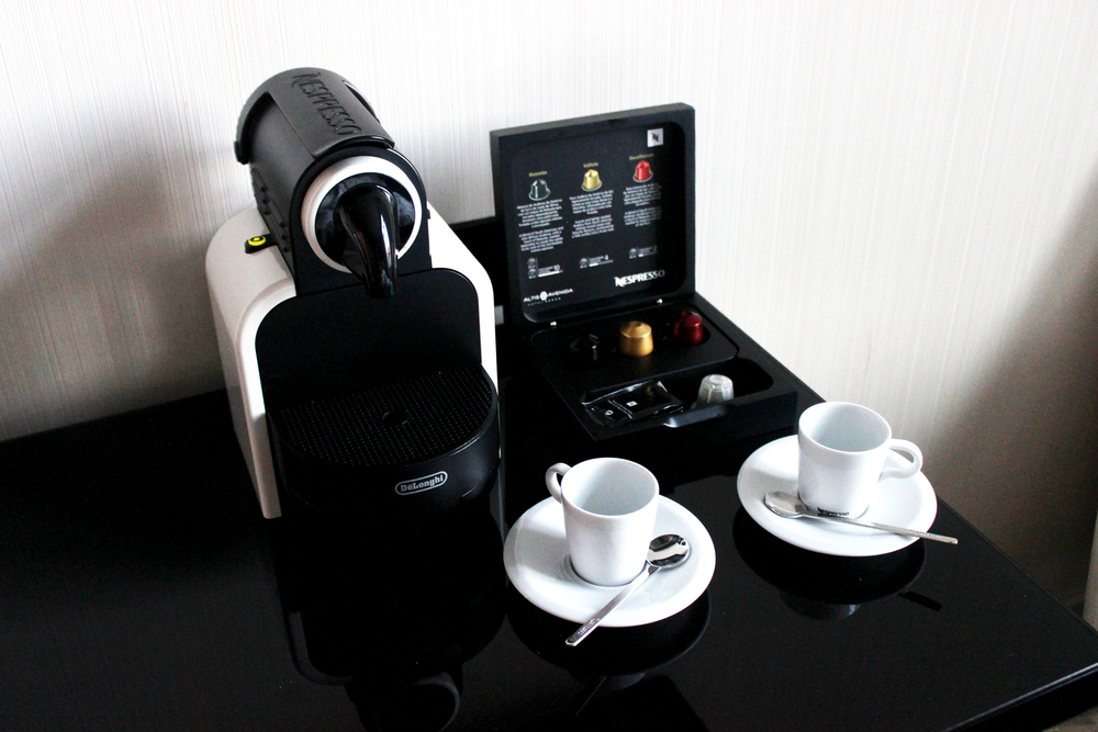 We were way too excited for our own personal Nespresso machine (they even gave us a tea pod!)