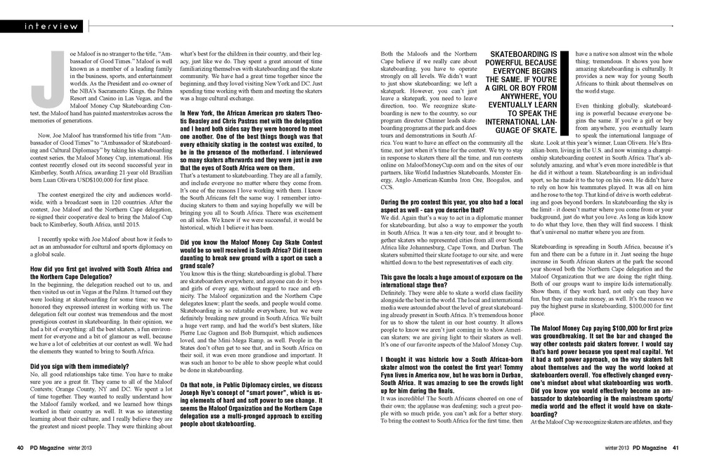 Joe Maloof Interview Page 2